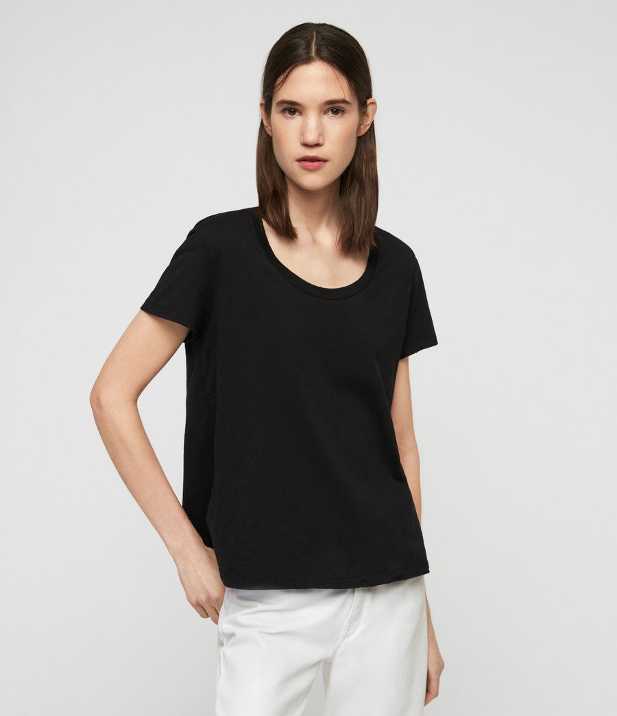 Women's Nina T-Shirt (black) - Image 1