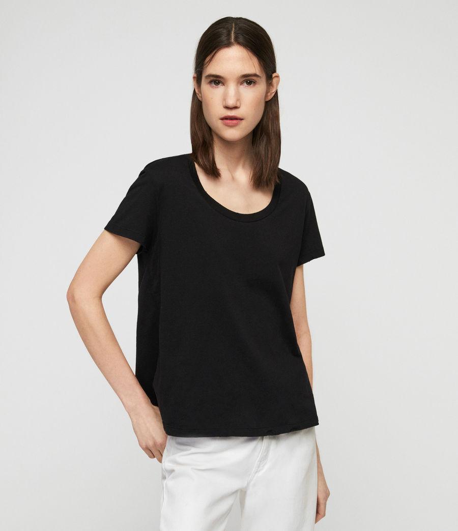 Womens Nina T-Shirt (black) - Image 1