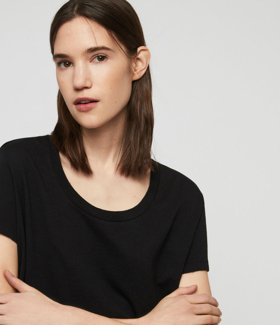 Womens Nina T-Shirt (black) - Image 2