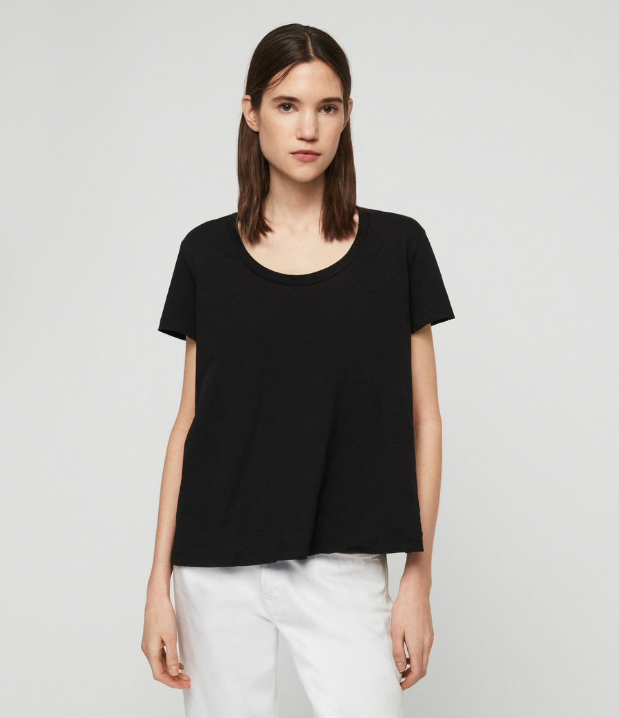 Womens Nina T-Shirt (black) - Image 4