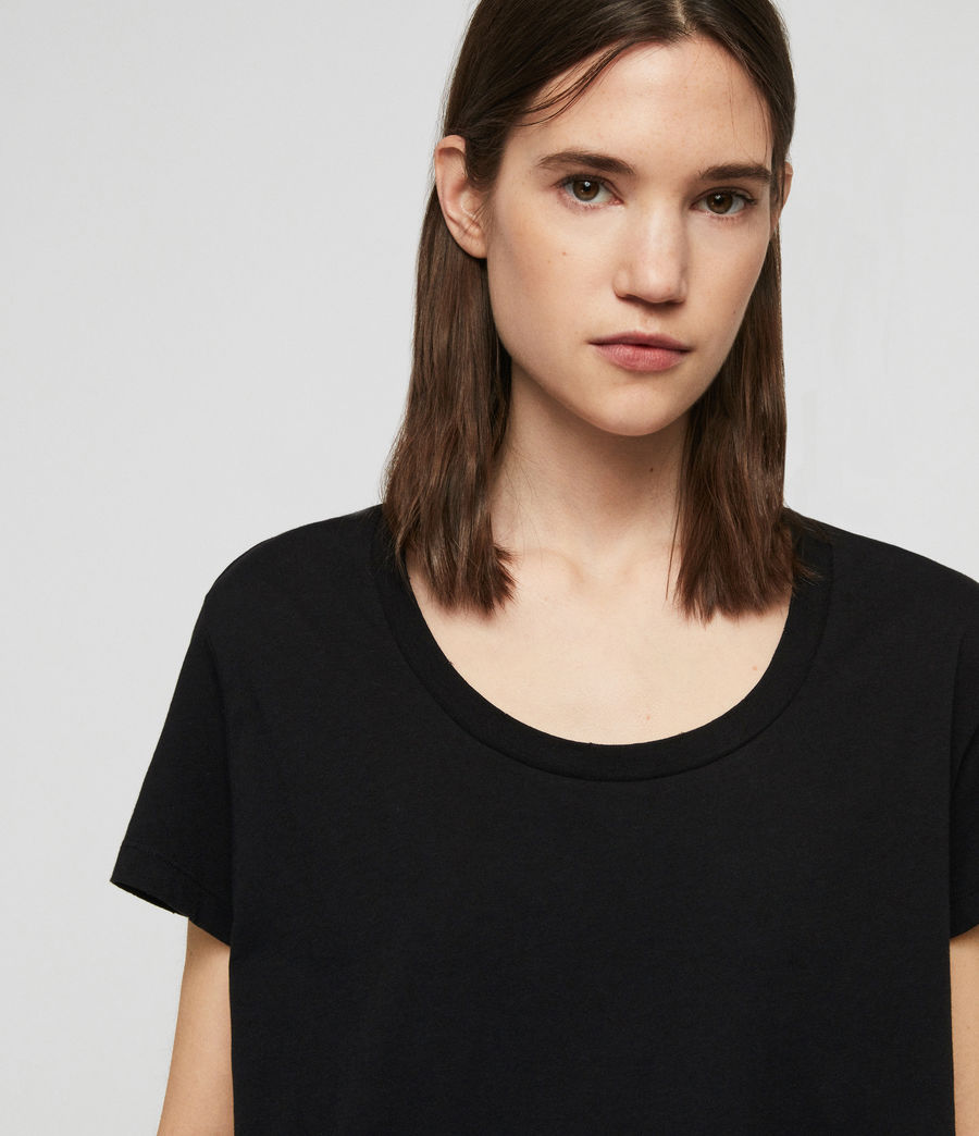 Womens Nina T-Shirt (black) - Image 5