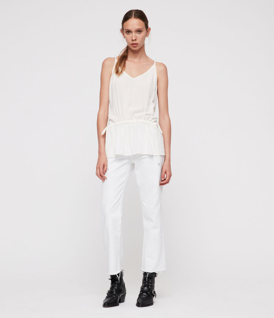Women's Isabel Top (chalk_white) - Image 3