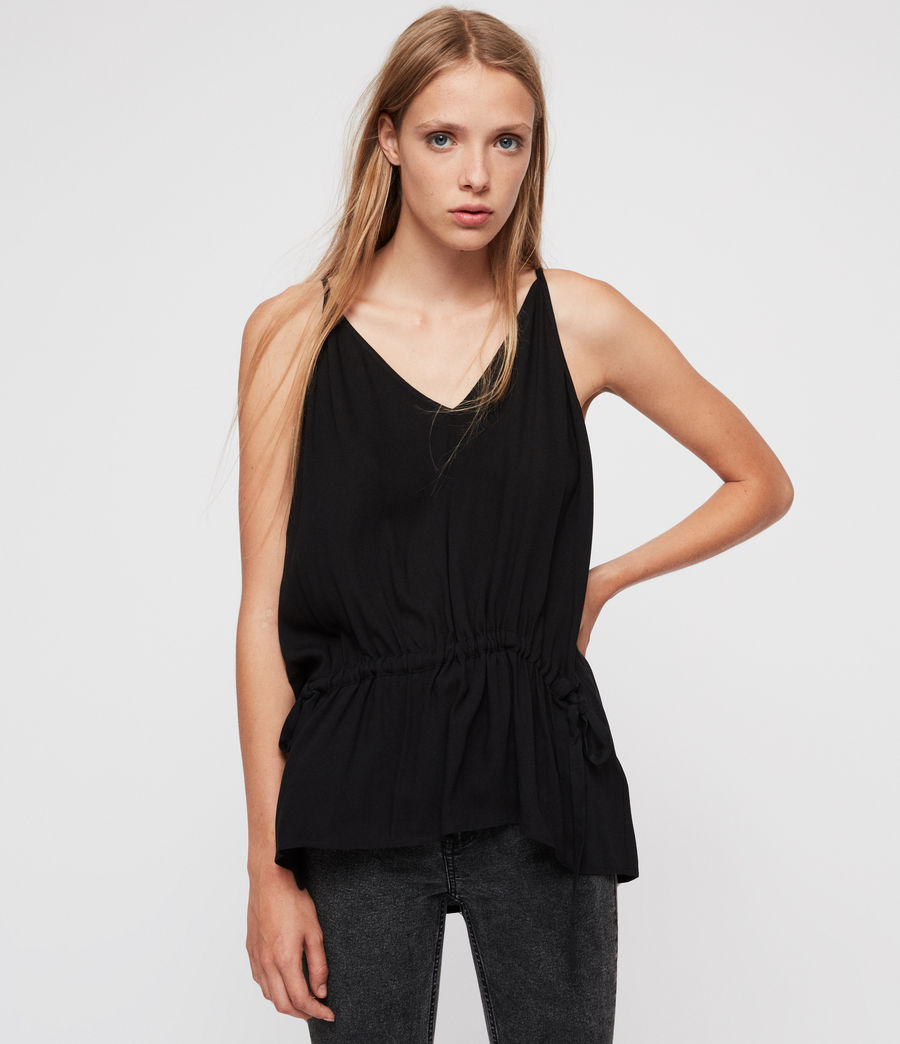 Womens Isabel Top (black) - Image 1