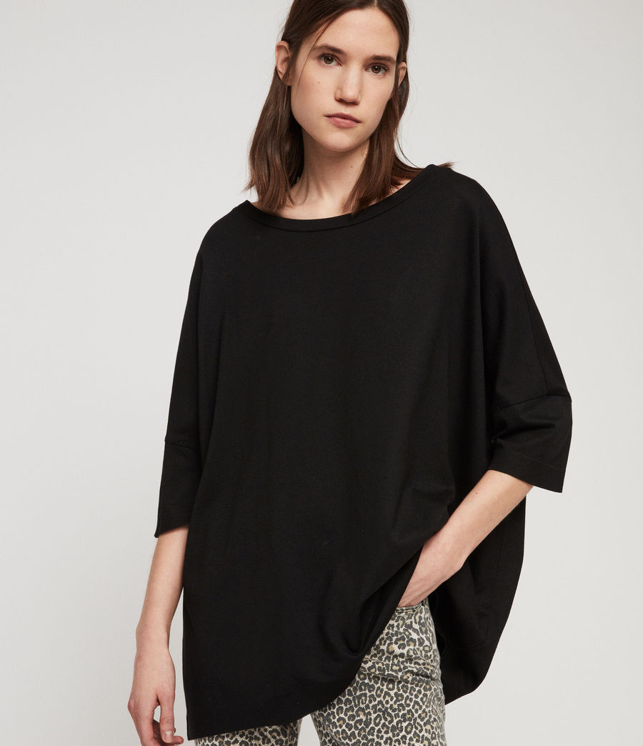 Women's Plira Rib T-Shirt (black) - Image 1