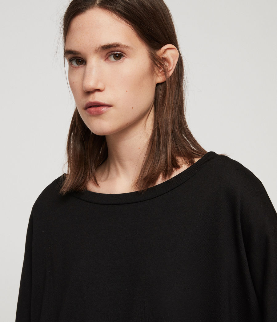 Women's Plira Rib T-Shirt (black) - Image 3