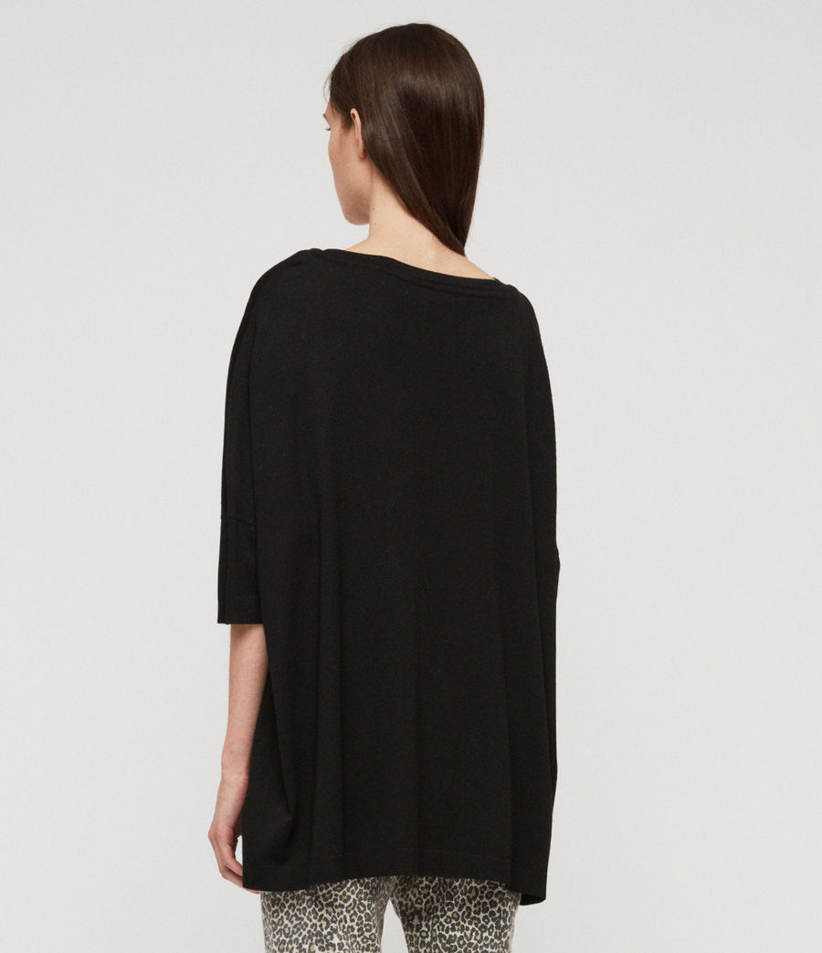 Women's Plira Rib T-Shirt (black) - Image 5