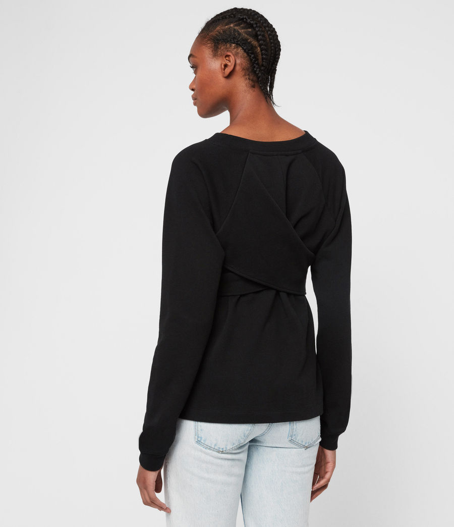 Womens Petunia Sweatshirt (black) - Image 5
