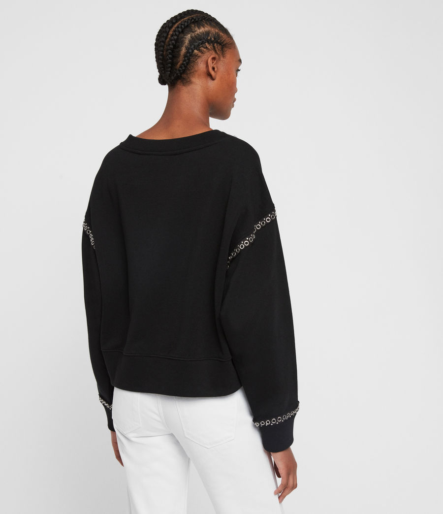 Womens Rafa Sweatshirt (black) - Image 4