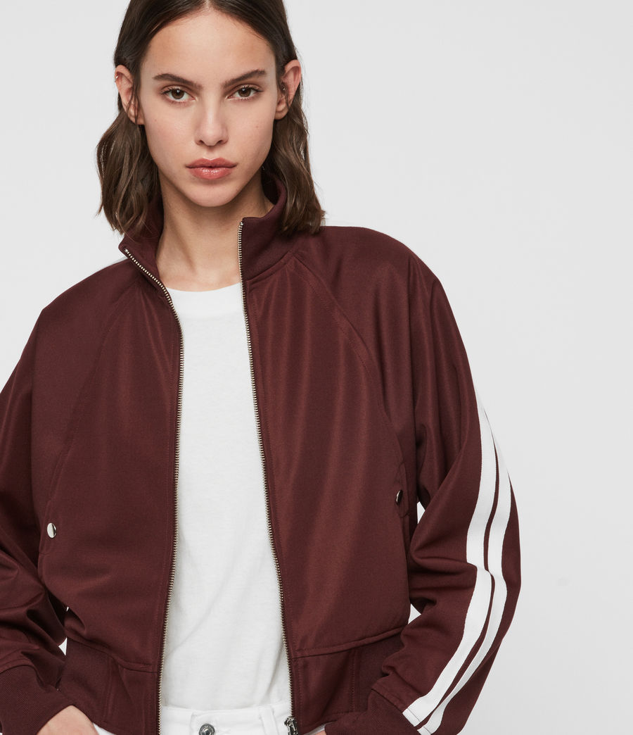 Womens Marty Track Jacket (oxblood_red) - Image 1