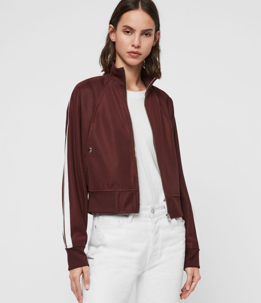 Womens Marty Track Jacket (oxblood_red) - Image 2