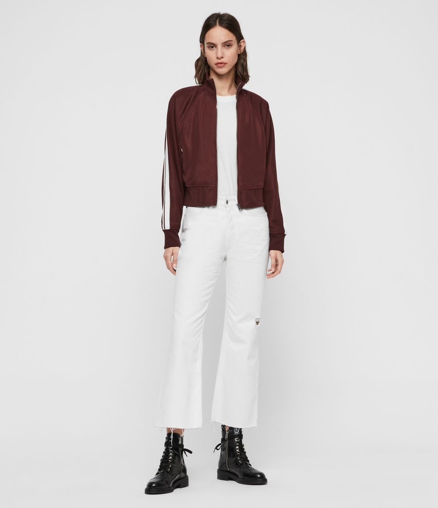 Womens Marty Track Jacket (oxblood_red) - Image 4