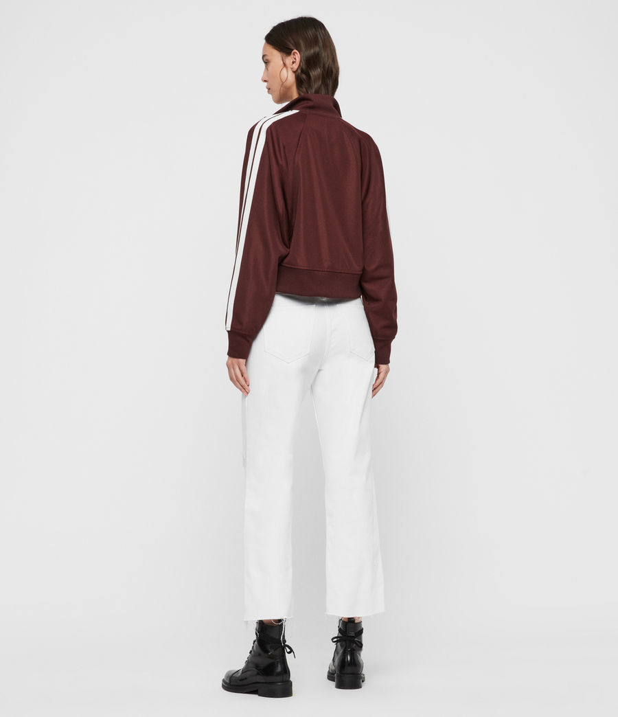 Womens Marty Track Jacket (oxblood_red) - Image 5