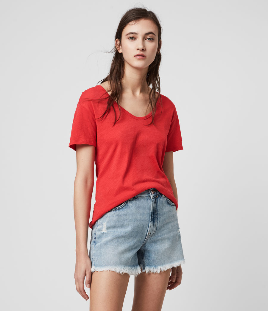 Mujer Mia Fifi T-Shirt (red) - Image 1