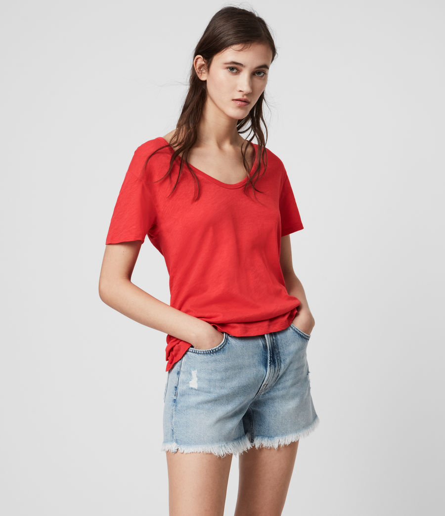 Mujer Mia Fifi T-Shirt (red) - Image 4