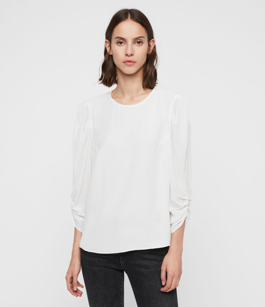 Women's Josephine Top (chalk_white) - Image 1