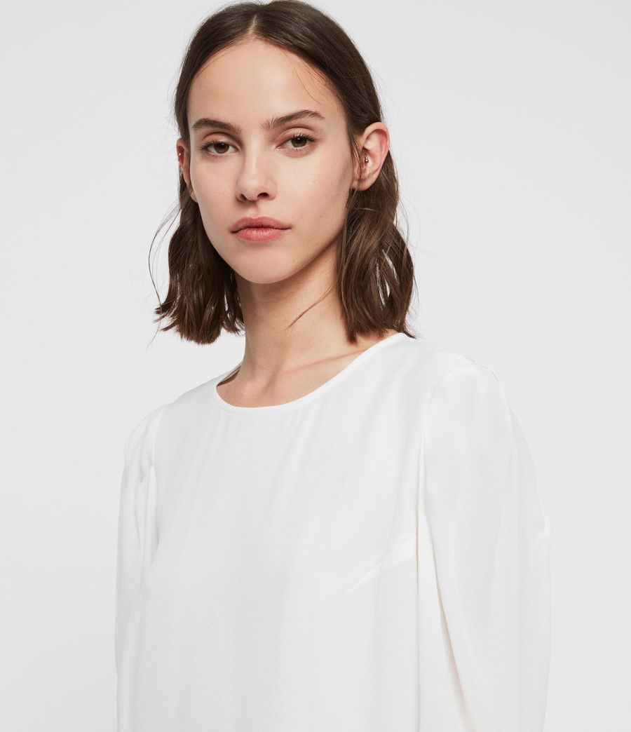 Womens Josephine Top (chalk_white) - Image 2