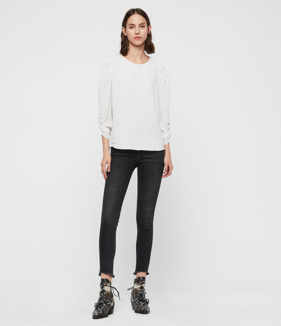 Women's Josephine Top (chalk_white) - Image 3