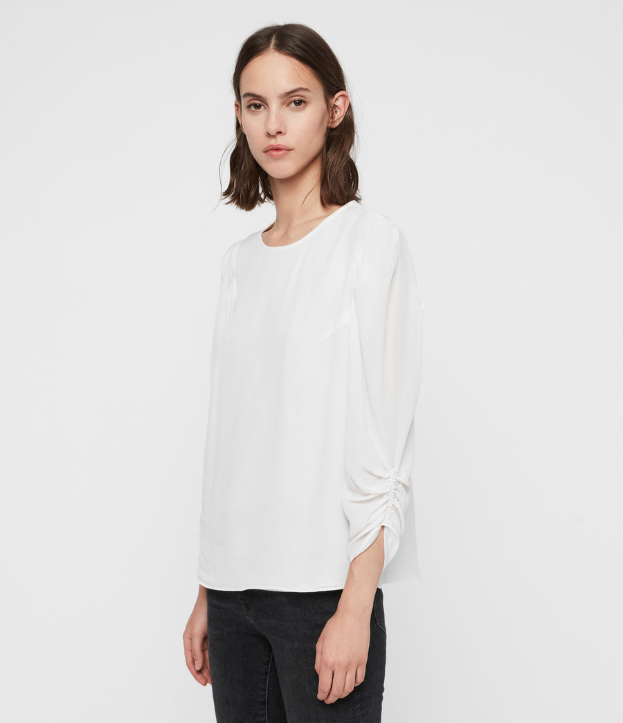 Womens Josephine Top (chalk_white) - Image 4