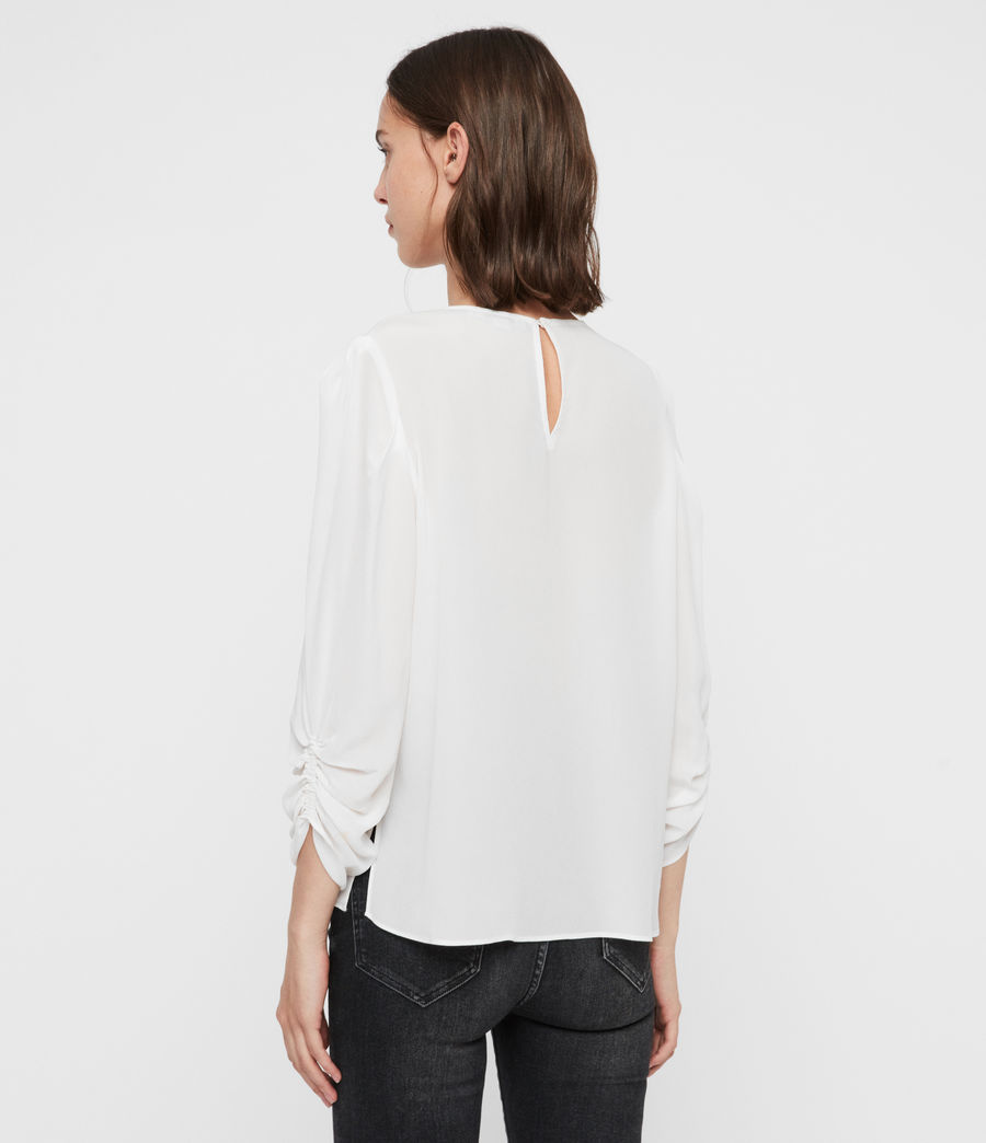 Womens Josephine Top (chalk_white) - Image 6