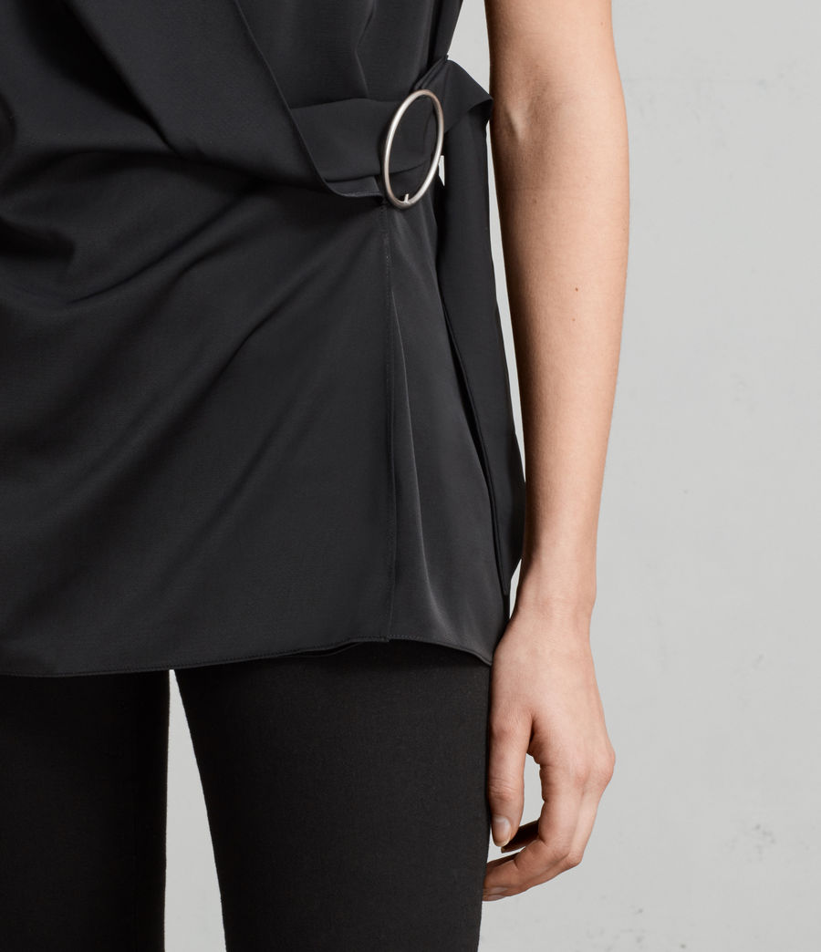 Women's Callie Top (black) - Image 2