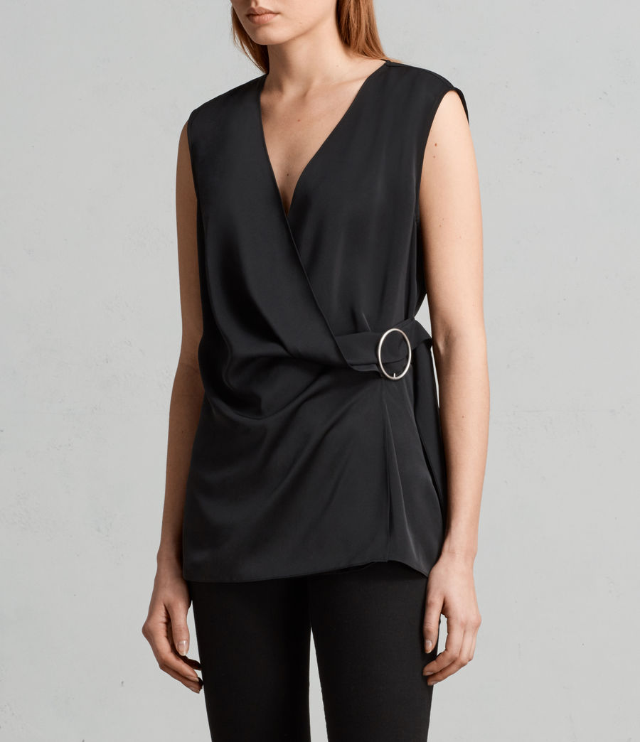 Women's Callie Top (black) - Image 3