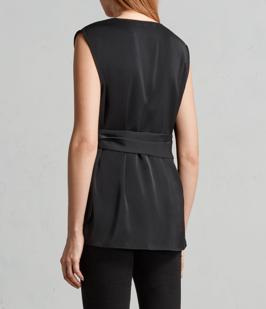 Women's Callie Top (black) - Image 4