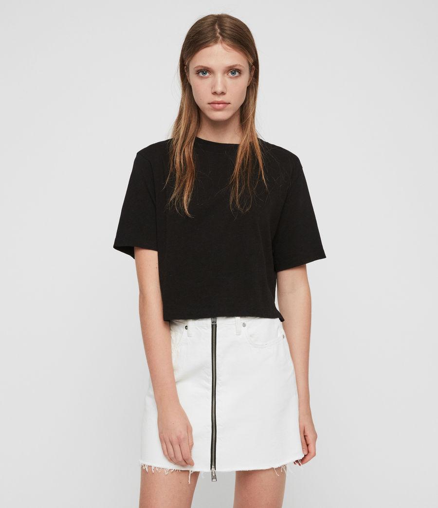 Femmes T-Shirt Benno (black) - Image 1