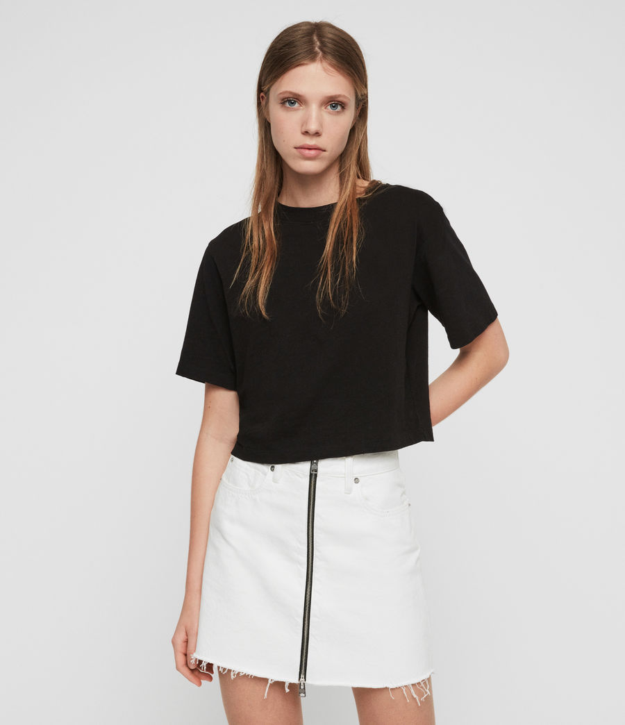 Womens Benno T-Shirt (black) - Image 4
