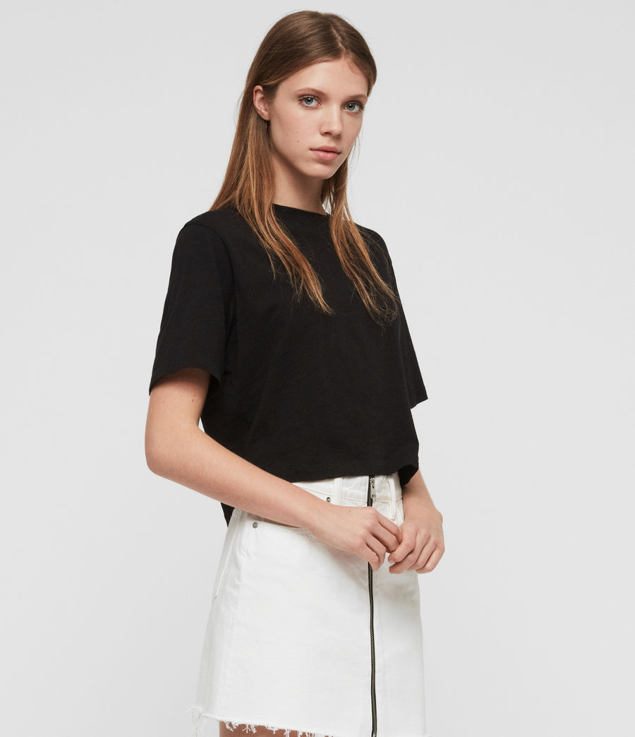 Womens Benno T-Shirt (black) - Image 5