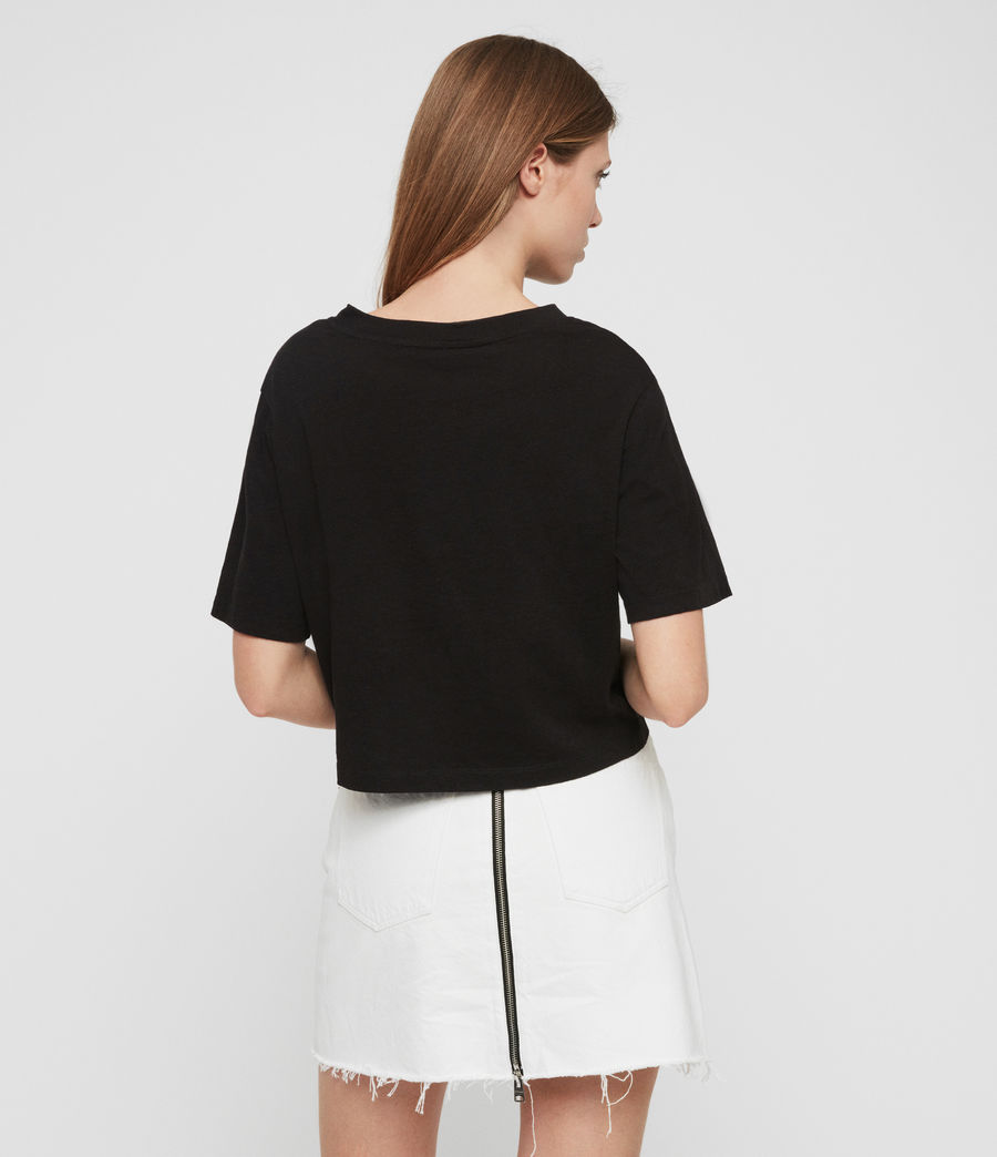 Womens Benno T-Shirt (black) - Image 6