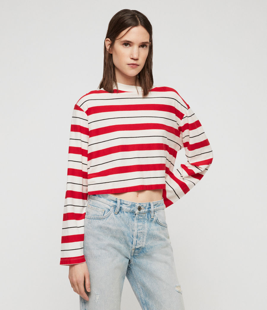 Damen Benno Stripe Langarmtop (red_chalk_black) - Image 3