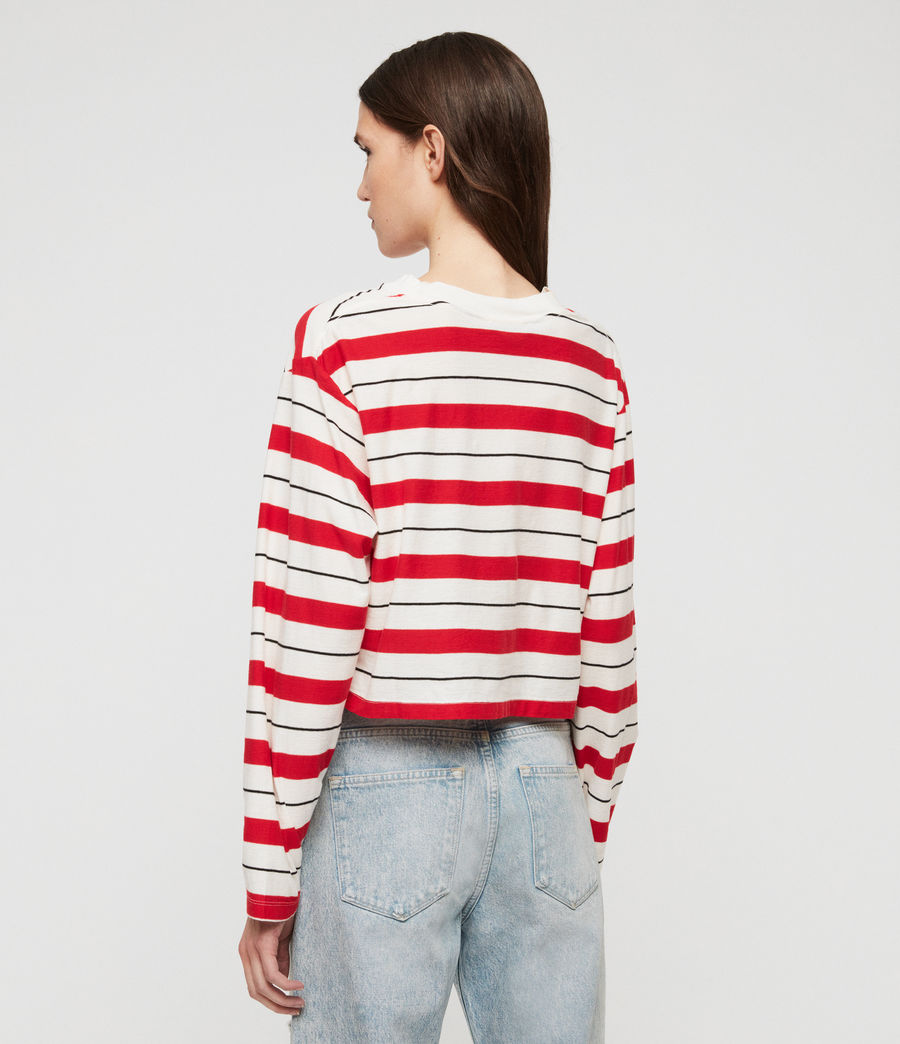 Damen Benno Stripe Langarmtop (red_chalk_black) - Image 4