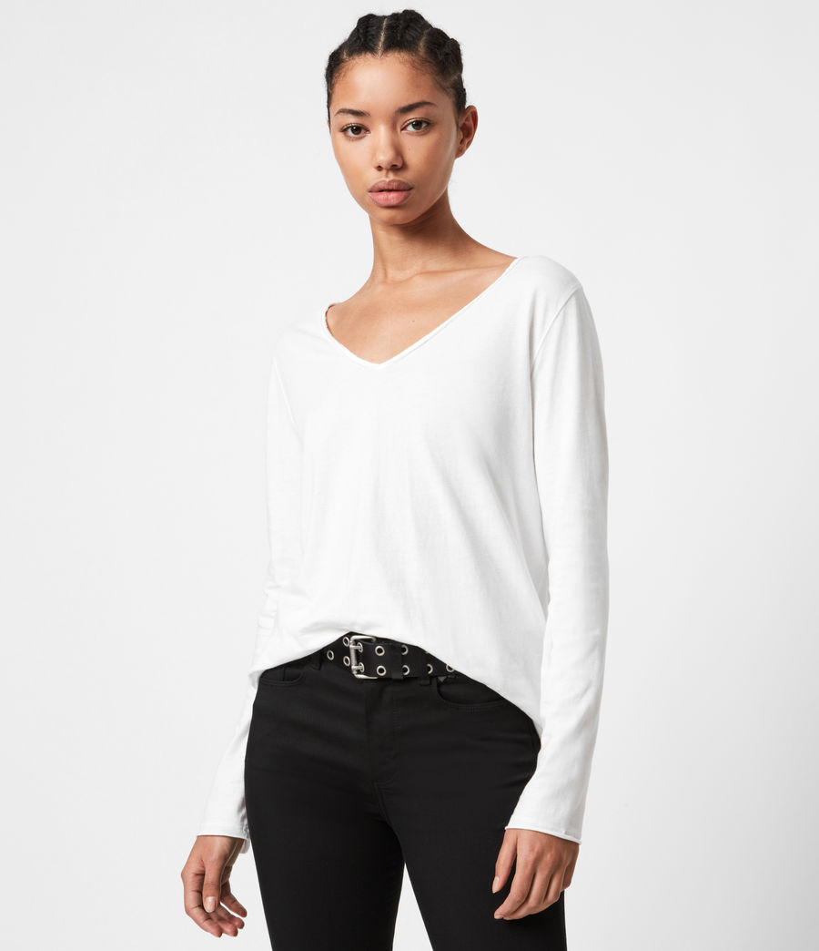 Women's Emelyn Tonic Long Sleeve T-Shirt (chalk_white) - Image 1