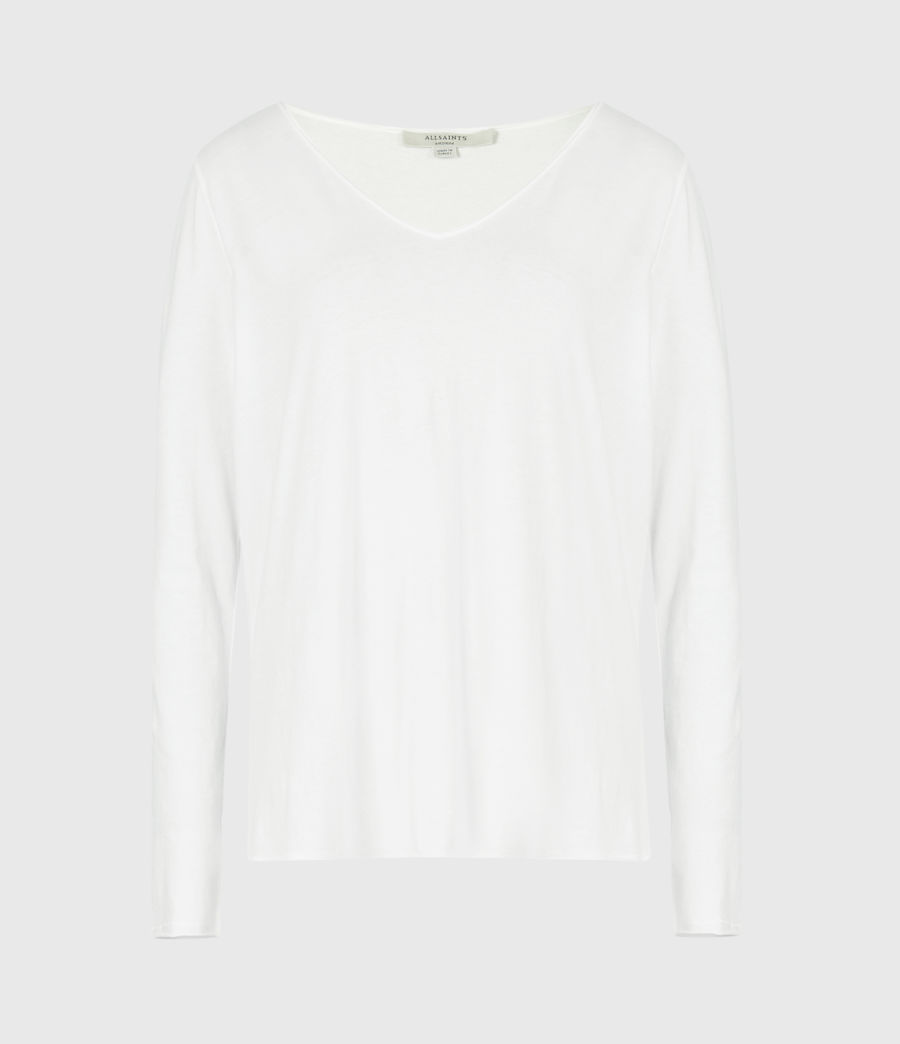 Women's Emelyn Tonic Long Sleeve T-Shirt (chalk_white) - Image 2