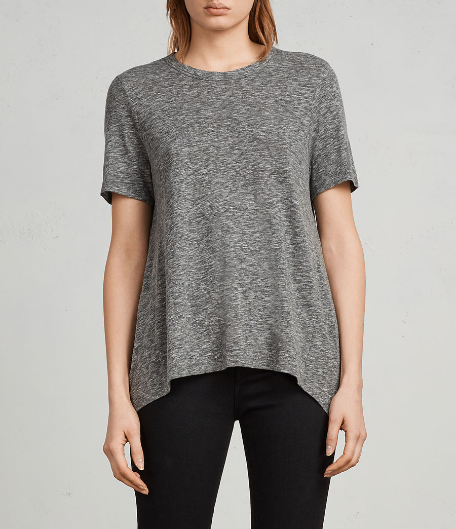 Women's Rosa Flame T-Shirt (grey_marl) - Image 1