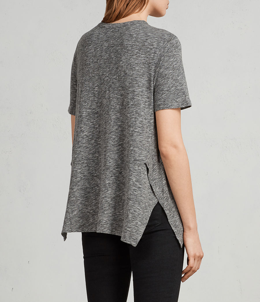 Women's Rosa Flame T-Shirt (grey_marl) - Image 5