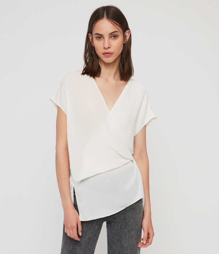 Damen Mia Top (chalk_white) - Image 1