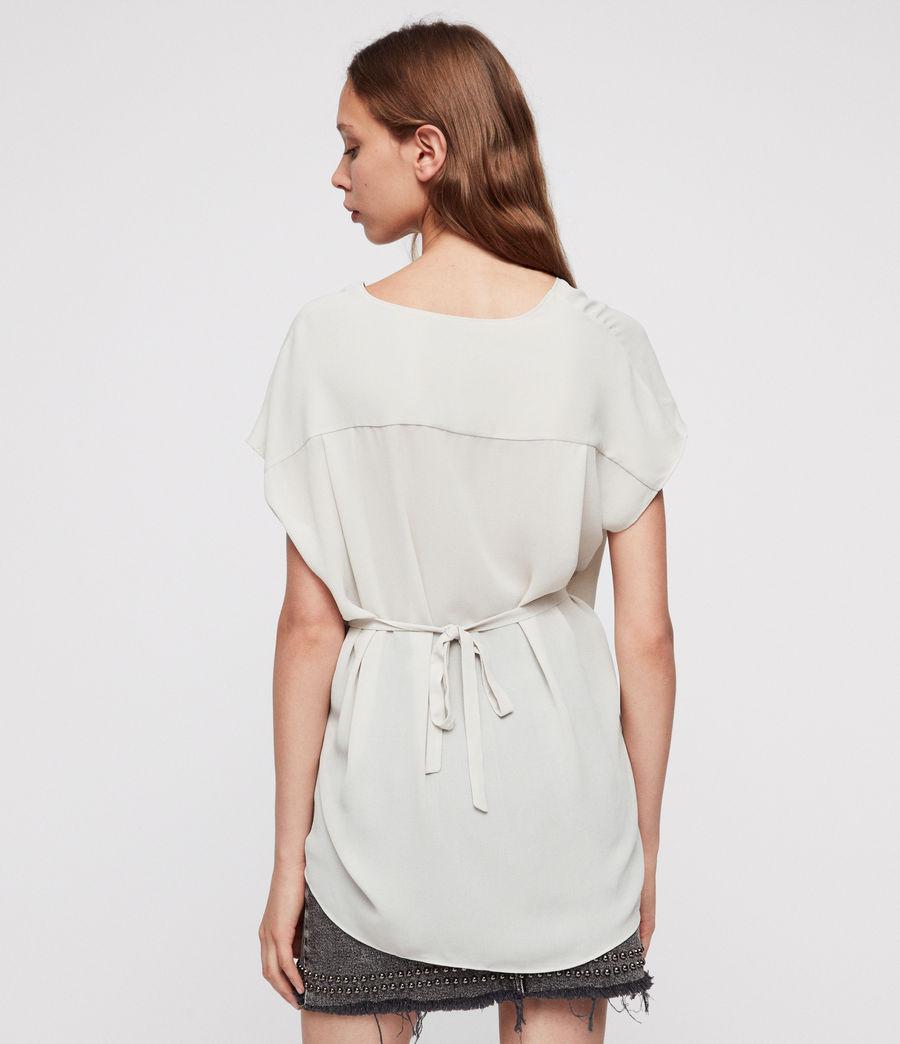 Donne Top Mia - A portafoglio con taglio asimmetrico (stone_white) - Image 4
