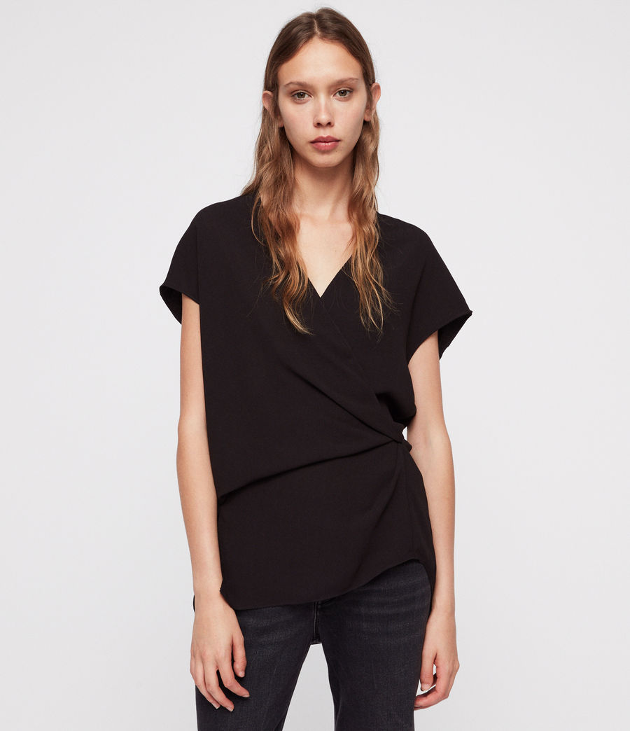 Women's Mia Top (black) - Image 1