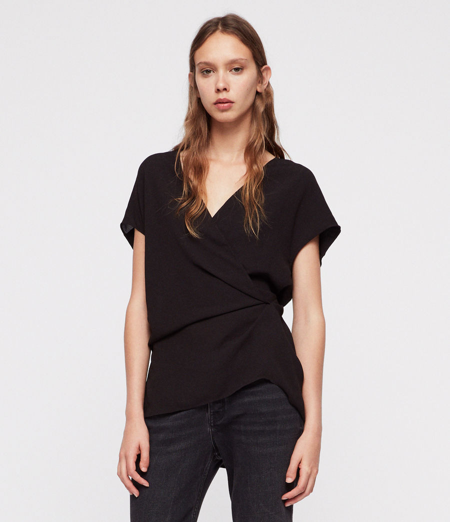 Womens Mia Top (black) - Image 4