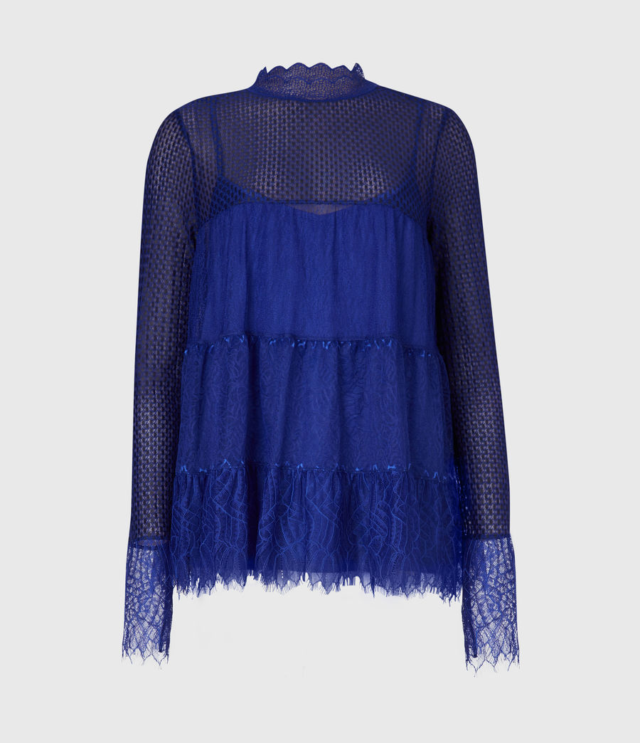 Womens Briella Lace Top (cobalt_blue) - Image 2