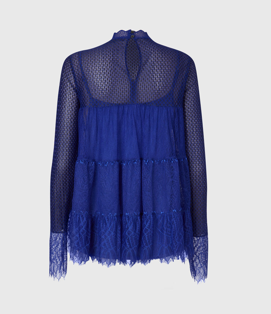 Womens Briella Lace Top (cobalt_blue) - Image 3