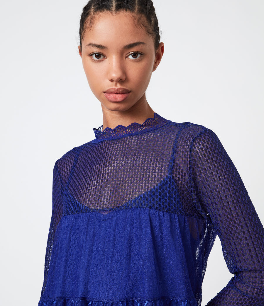 Womens Briella Lace Top (cobalt_blue) - Image 4
