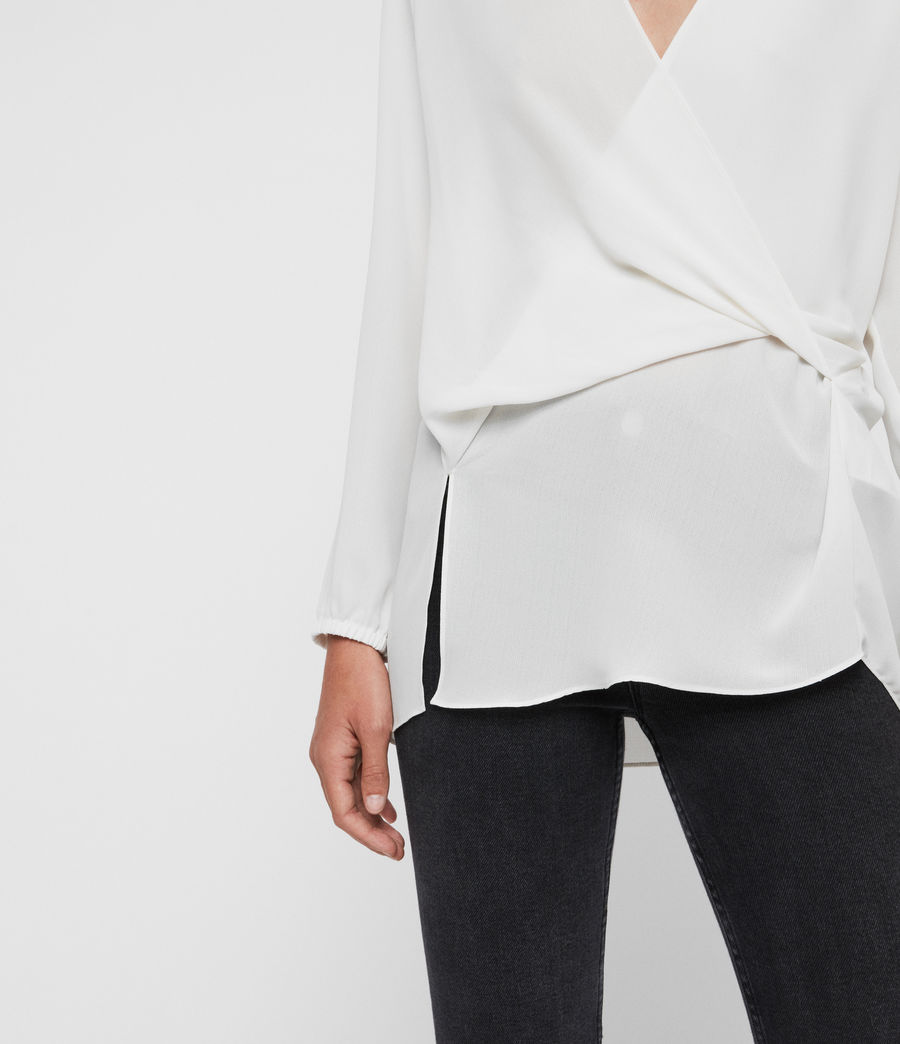 Women's Mia Sleeve Top (chalk_white) - Image 2