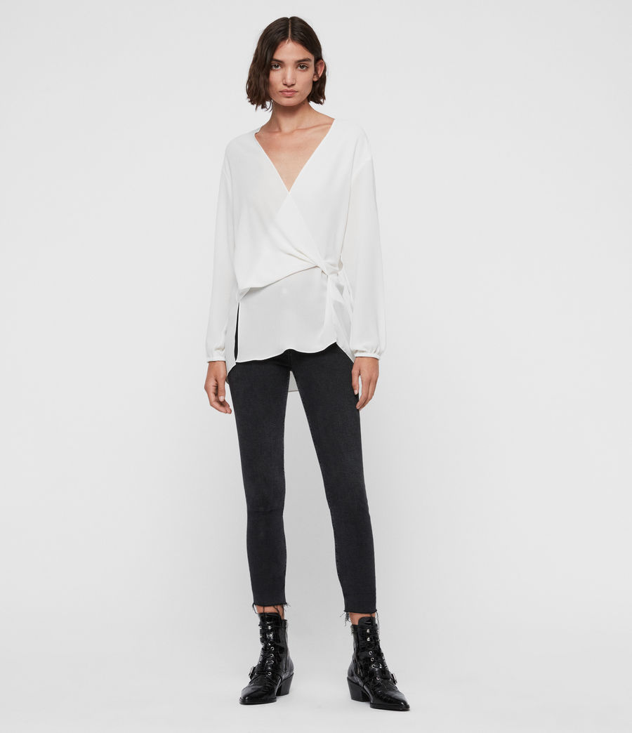 Womens Mia Sleeve Top (chalk_white) - Image 3