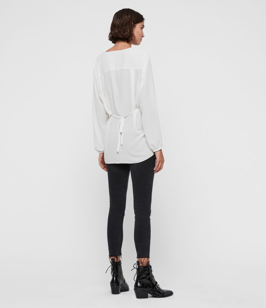 Womens Mia Sleeve Top (chalk_white) - Image 5
