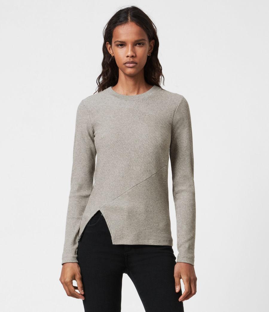 Femmes T-Shirt Manches Longues Gia (grey_marl) - Image 1