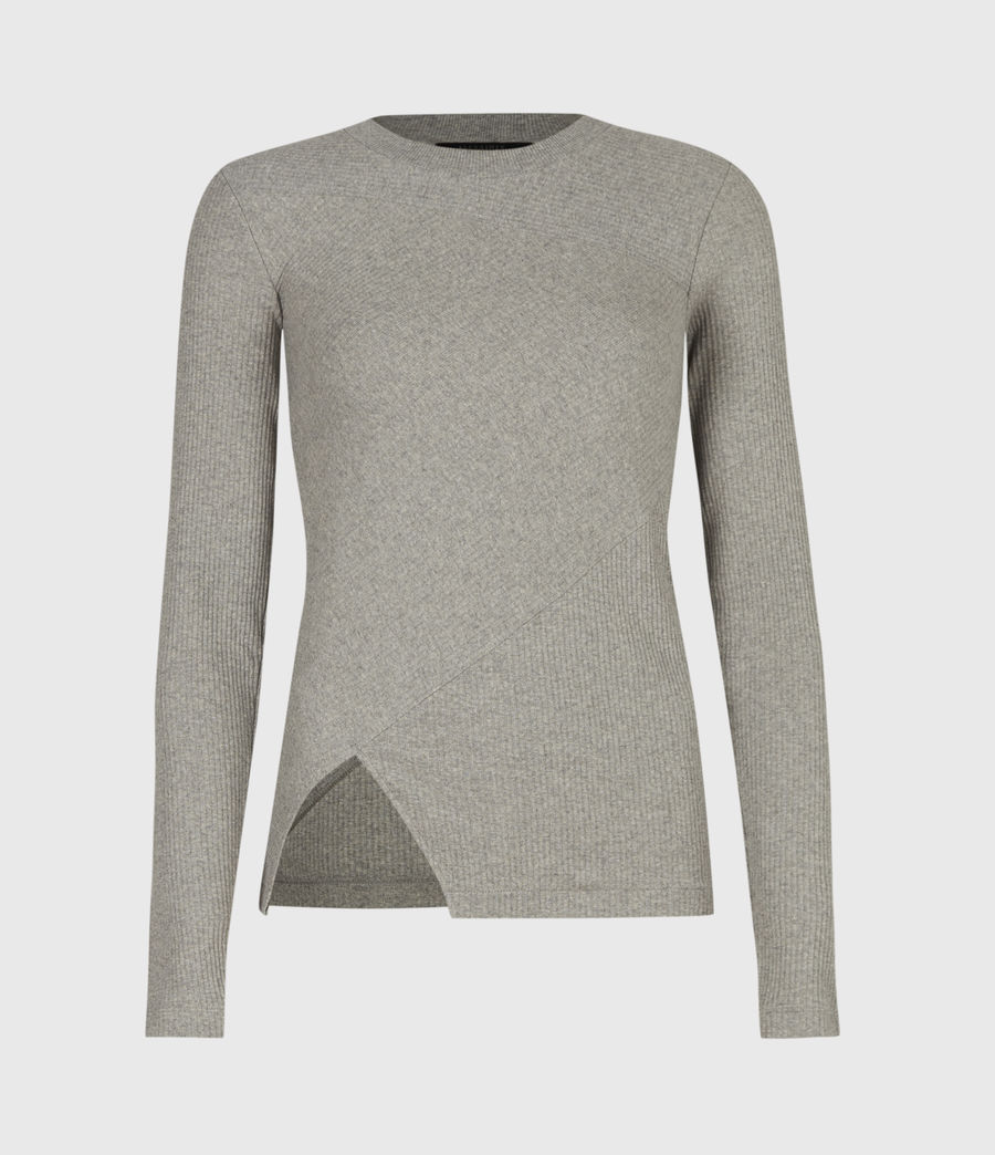 Women's Gia Long Sleeve T-Shirt (grey_marl) - Image 2