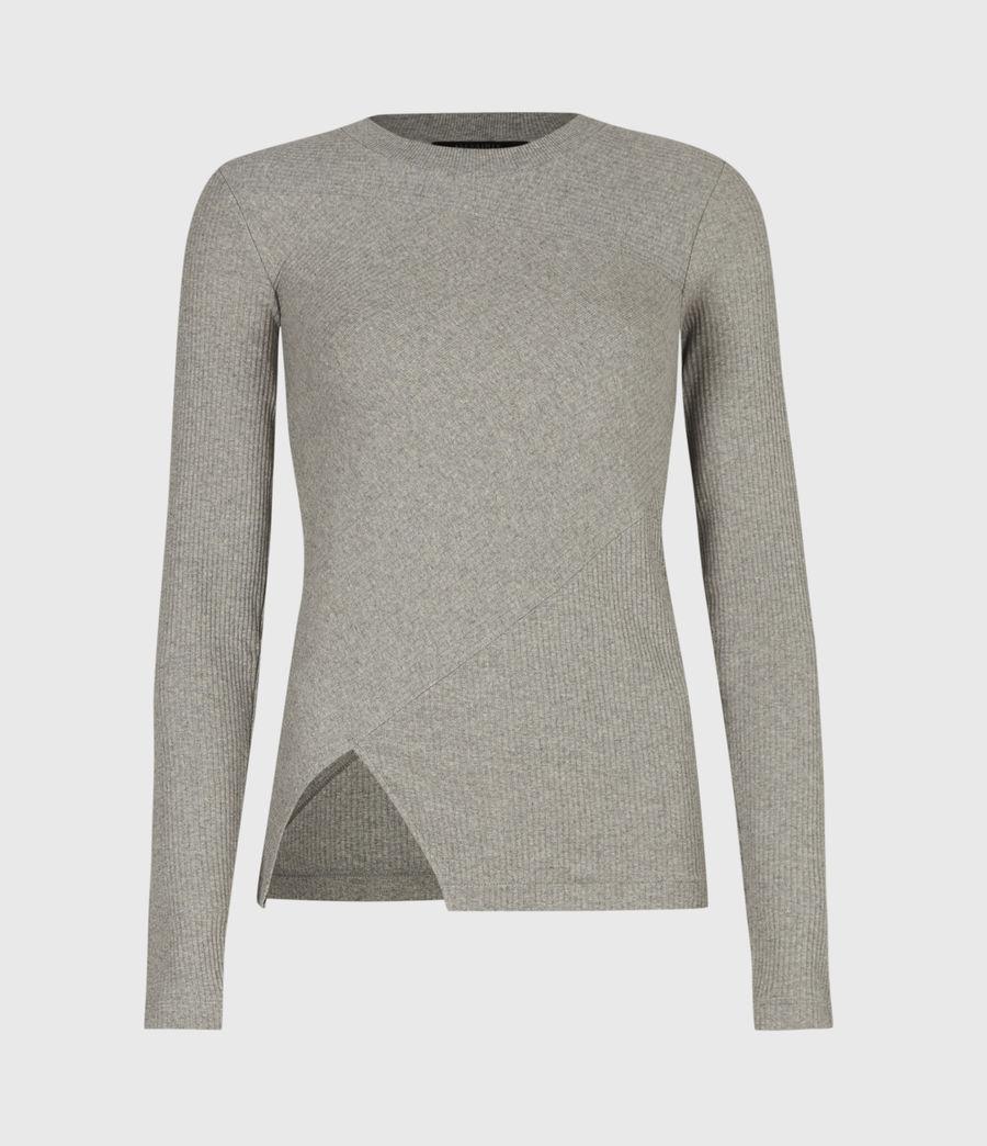 Femmes T-Shirt Manches Longues Gia (grey_marl) - Image 2