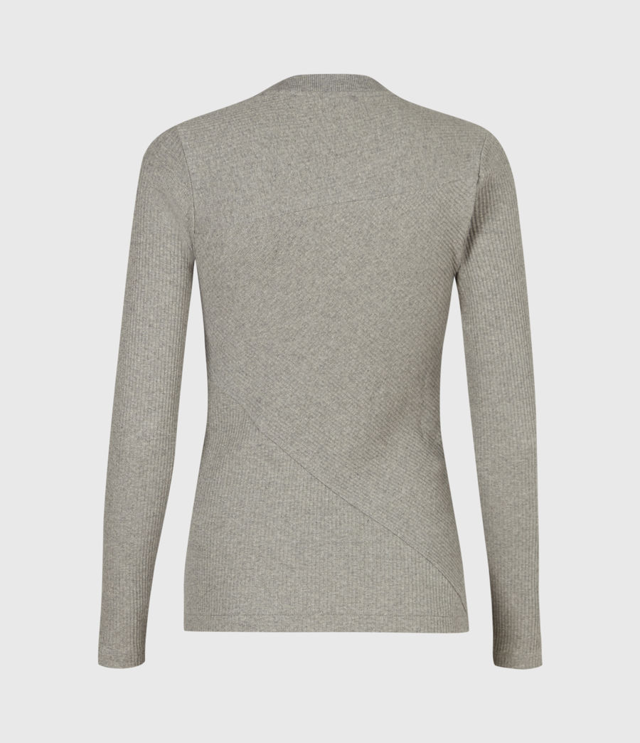 Women's Gia Long Sleeve T-Shirt (grey_marl) - Image 3